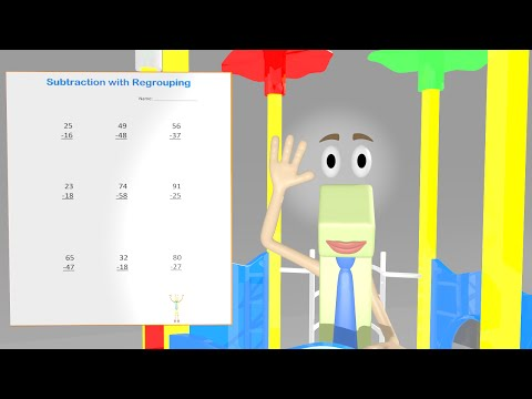 Subtraction with Regrouping Worksheet Video - 2nd Grade Math Video