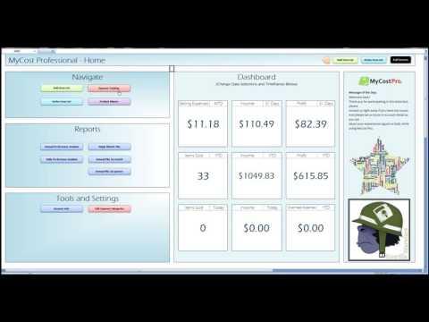 MyCostPro ebay spreadsheet Tutorial 2 - edit active list item inventory