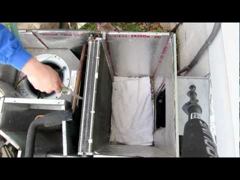 Cleaning all in one outside unit evaporator and condenser coil - Package Unit Air conditioner AC