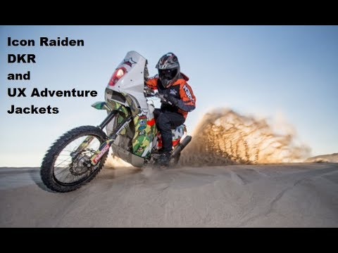 Icon Motorsports Raiden DKR and Raiden UX Adventure Motorcycle Gear New for 2018