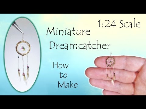 Miniature Dreamcatcher Tutorial (hand-woven!) | Dollhouse | How to Make 1:24 Scale DIY