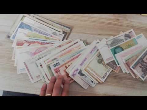 eBay: Awesome Lot World Banknotes Unboxing - January 21, 2017