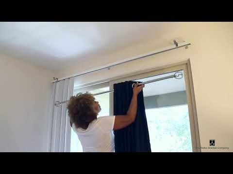 Hang curtains over blinds in a flash with NoNo Brackets