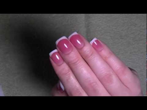 Pink & White for short nails - Acrylic Nails + Giveaway (CLOSED) - E004