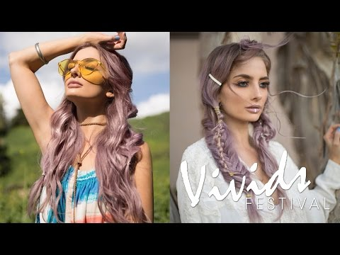 MIDNIGHT MOONCHILD Hair Color & Styling How-To | VIVIDS FESTIVAL (Dusty Lavender Hair Color)