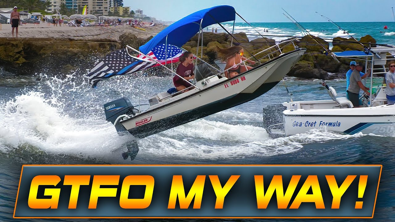 BIRTH OF A NEW LEGEND AT BOCA INLET ? WOW! | HAULOVER INLET BOATS | WAVY BOATS