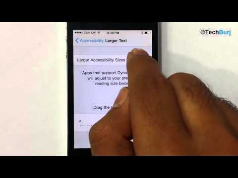 How To Change Text Size On iOS 8- iPhone, iPad, iPod