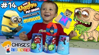 Chase's Corner: THE UGGLYS PET SHOP / MINIONS SURPRISE EGG / MINECRAFT BOXES (#14) | DOH MUCH FUN
