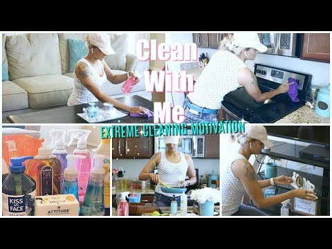 NEW! CLEAN WITH ME 2018 | EXTREME CLEANING MOTIVATION