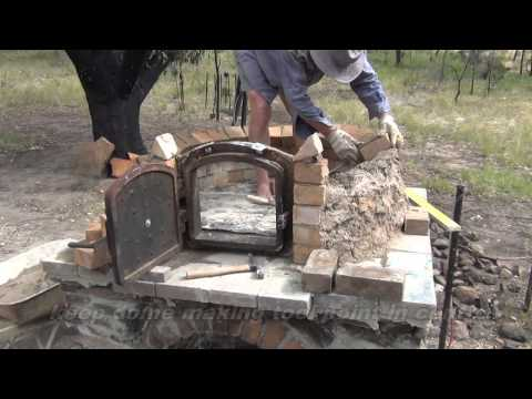 How to build a wood-fired pizza/bread oven with a hot water system