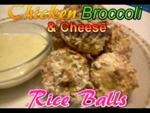 Easy Toddler Recipe - How To Make Baked Chicken Broccoli & Cheese Rice Balls - KID TESTED