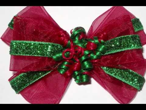 Christmas Baby Hair Bows & Headbands