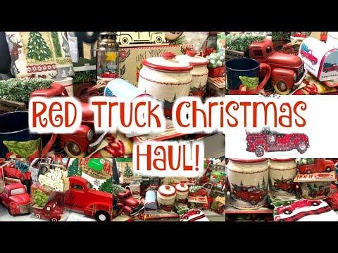 Family Dollar Christmas Hours.Red Truck Christmas Decor Haul Dollar General Walmart