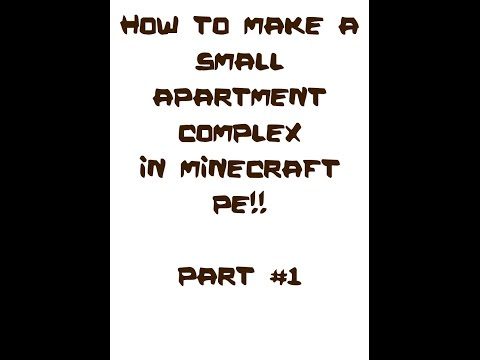 How to make small apartment complex in minecraft PE! Part #1