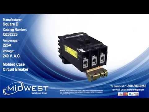 Square D Q232225 Circuit Breaker - For Sale