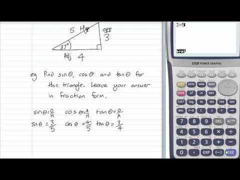 trig ratios: finding sin cos and tan theta from sides of a triangle