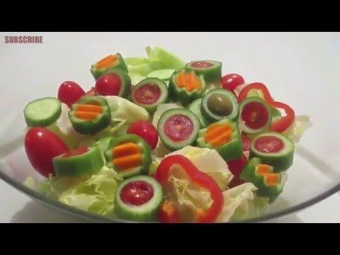 STUNNING IDEAS TO DECORATE YOUR SALAD (BY CRAZY HACKER)
