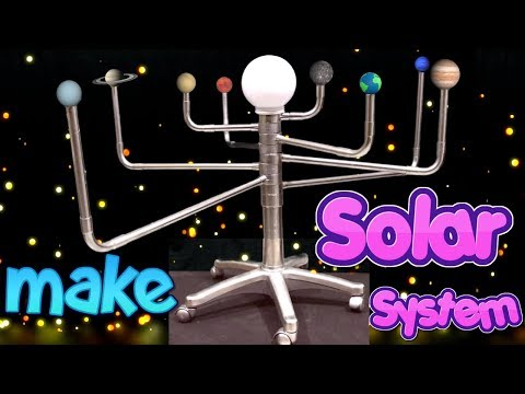 solar system project how to make 3d working model school science