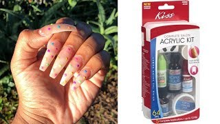 COMPLETE Salon Acrylic Nail Kit For Beginners & Professionals   15$ Professional Nails At HOME