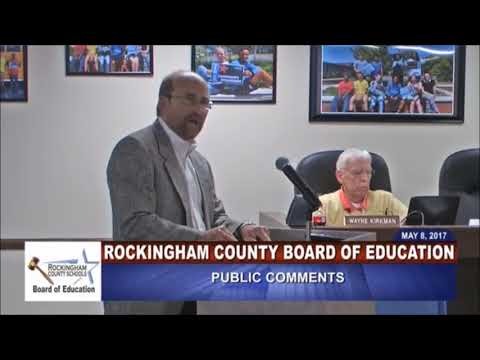 Public Comments -May 8 2017 - Rockingham County BOE
