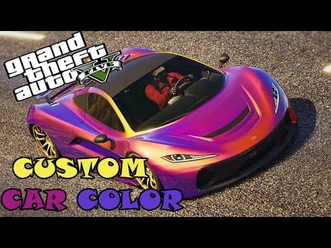 GTA V -  Custom Car Color (How make Amazing | Modded Colors ) #PimpYouRide 1