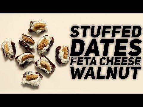 Stuffed Dates With Feta Cheese & Walnuts | Dates Recipe | Healthy Recipe | Ramadan Special