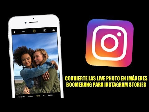 Convierte las Live Photos de iOS en Boomerang para Instagram Stories