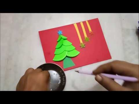 How to make Christmas Cards for kids 2017 | Easy Merry Christmas Cards