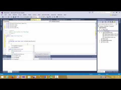 Multi Language WebSite Asp.net C#