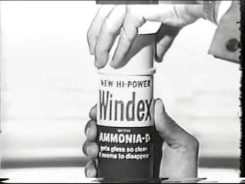 1966 Windex Glass Cleaner Commercial