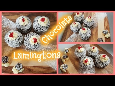 How to make easy CHOCOLATE Lamington Muffins