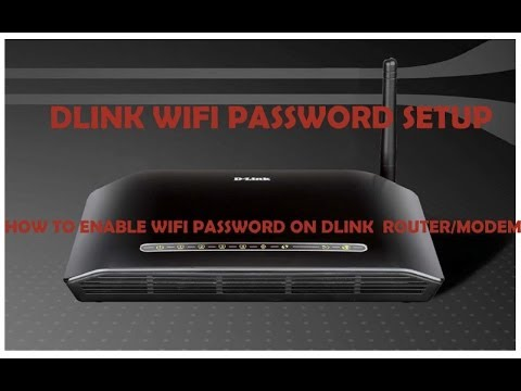 How to change D-Link router's wifi password | How to change dlink router password