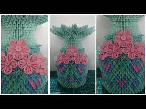 How To Make 3D Origami Flower Vase