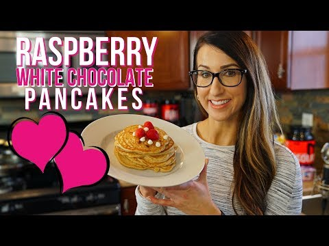 Protein-Packed Raspberry White Chocolate Pancakes