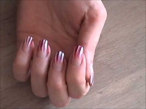 Nailart: Stripe it!!   - A way to make your nails look longer-