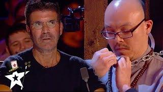 Escape Artist & Mentalist Attempt A Dangerous Stunt on BGT 2020 | Magicians Got Talent