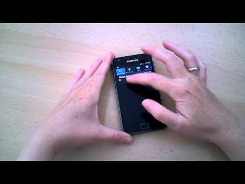 Schnellzugriff auf nützliche Funktionen des Samsung Galaxy S II