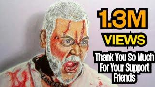 Kanchana 3   Ruthra Kali Video Song   Ragava Lawrence Realistic Drawing Using Colour Pencil