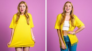 DIY CLOTHING AND FASHION HACKS || Cool Clothes Upgrade Ideas by 123 GO!