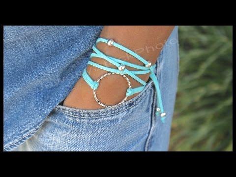 Boho Infinity Circle Charm Triple Wrap Bracelet - Step by Step DIY Tutorial How to Size - # 332