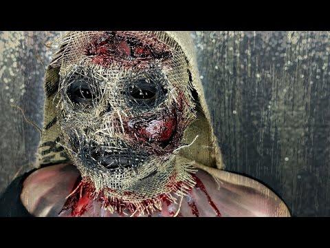 Creepy Scary ScareCrow Halloween Makeup Tutorial | BeautyByJosieK