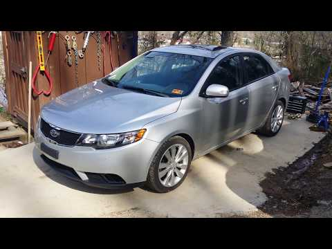 First step of salvage inspection on a 2010 Kia Forte complete