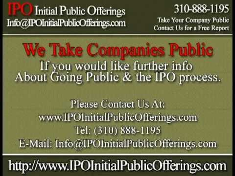 IPO - Initial Public Offerings - We Take Companies Public