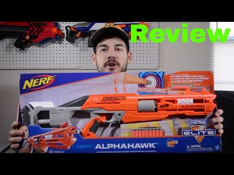 [Review] Nerf Accustrike Alphahawk (Unboxing, Chrono and Range Test)