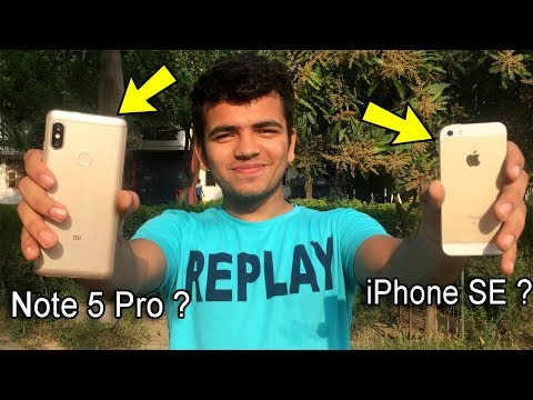 Xiaomi Redmi Note 5 Pro Vs iPhone SE Camera Test In Hindi With Samples | Best Budget Camera ?
