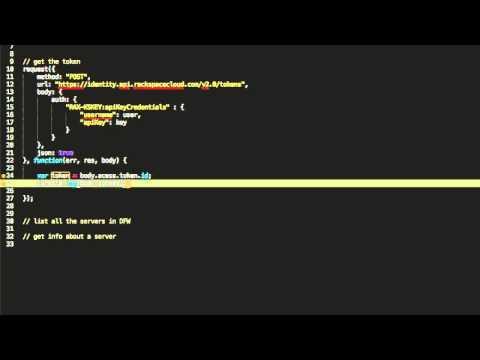How to use the Rackspace API with NodeJS