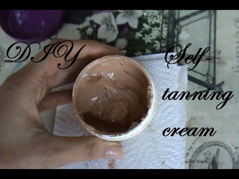 DIY Non-permanent self-tanning cream - Homemade