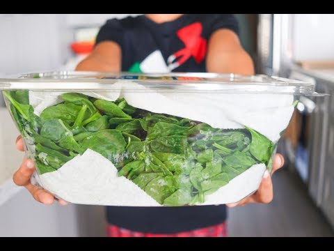 How to store spinach so it stays fresh for a week!