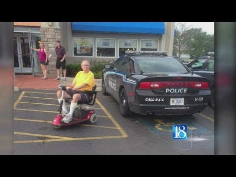 Lafayette Police respond to LPD car parked in handicapped space at IHOP