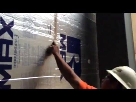 Foil Faced Rigid Insulation to Concrete Block